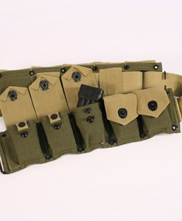 M1 Garand ammunition belt in Transitional Green and Tan