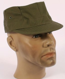 US Army HBT Cap. 1943 pattern OD 7 Dark Shade Green
